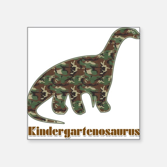 Kid Dinosaur Square Sticker