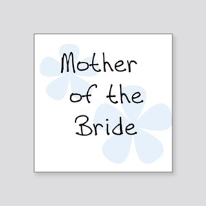 Mother of Bride Blue Square Sticker