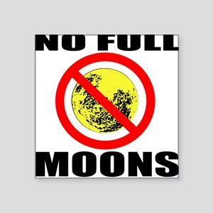 Full Moon Square Sticker