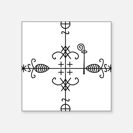 Legba Veve Square Sticker