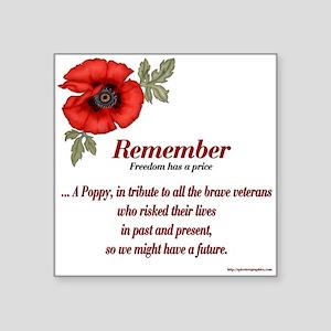 Remember Poppy Square Sticker