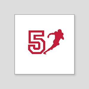 Number 5 Square Sticker