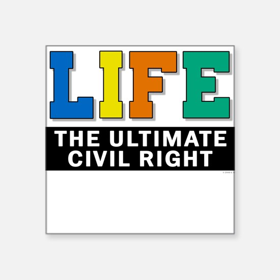 Civil Rights 2 Square Sticker