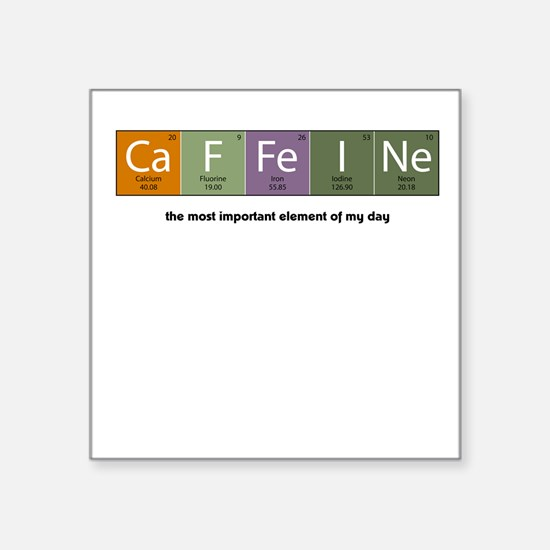 Caffeine Square Sticker