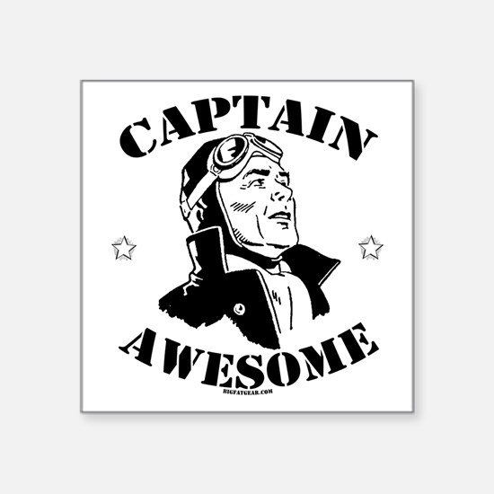 Captain Awesome Square Sticker