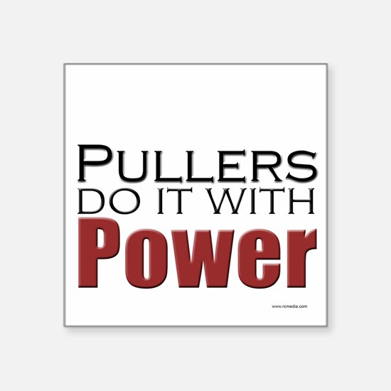 Tractor Pullers Square Sticker