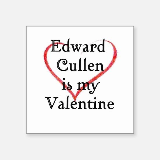 Edward Cullen Valentine's Day Square Sticker