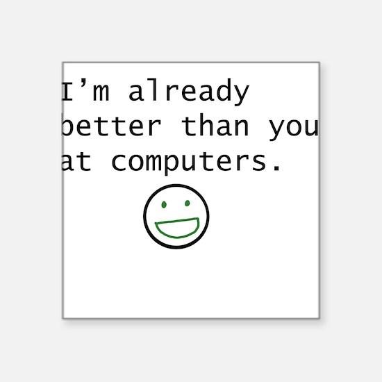 Computers Square Sticker