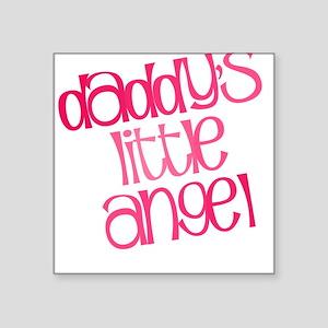 Daddy's Little Angel Square Sticker