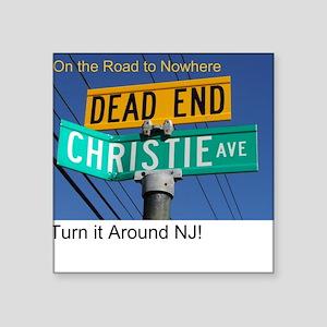 Dump Chris Christy Must-Have Square Sticker