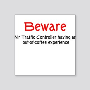 Air Traffice Controller Square Sticker
