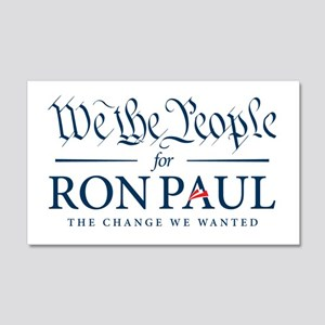We the People for Ron Paul 22x14 Wall Peel
