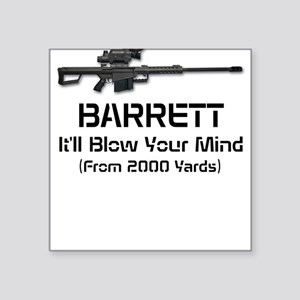 Barrett 50 Cal. Square Sticker