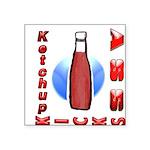 Ketchup Kicks Ass Square Sticker 3