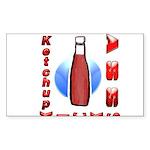 Ketchup Kicks Ass Sticker (Rectangle)