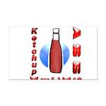Ketchup Kicks Ass Rectangle Car Magnet