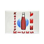 Ketchup Kicks Ass Rectangle Magnet (10 pack)