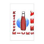 Ketchup Kicks Ass Mini Poster Print