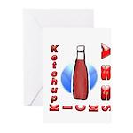Ketchup Kicks Ass Greeting Cards (Pk of 20)