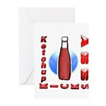 Ketchup Kicks Ass Greeting Cards (Pk of 10)