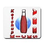 Ketchup Kicks Ass Mousepad