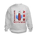 Ketchup Kicks Ass Kids Sweatshirt