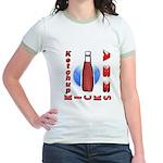 Ketchup Kicks Ass Jr. Ringer T-Shirt