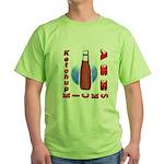 Ketchup Kicks Ass Green T-Shirt