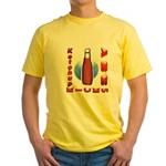 Ketchup Kicks Ass Yellow T-Shirt