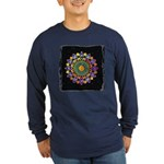 Vesica Piscis Flower Long Sleeve Dark T-Shirt