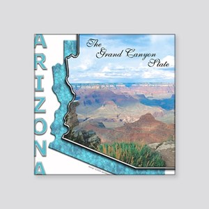 Arizona - Grand Canyon State Square Sticker