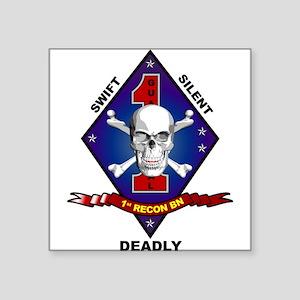 1st Recon Square Sticker