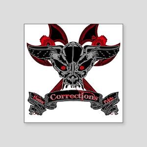 Demon Skull Square Sticker