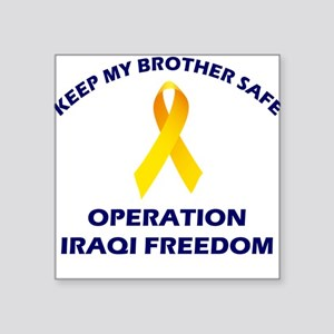 Keep My Brother Safe OIF Square Sticker