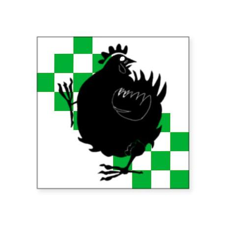 Chicken Knight Square Sticker