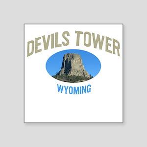 Devils Tower National Monumen Square Sticker