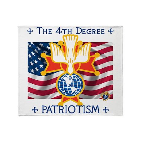 Throw Blanket Patriotic Kofc 4th Degree