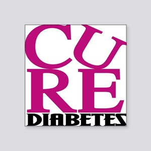 Pink Cure Square Sticker