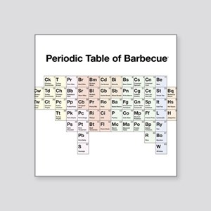 Periodic Table of Barbecue Square Sticker