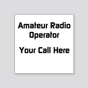 Personalized Call Sign Square Sticker