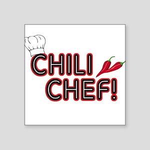 Chili Chef Square Sticker