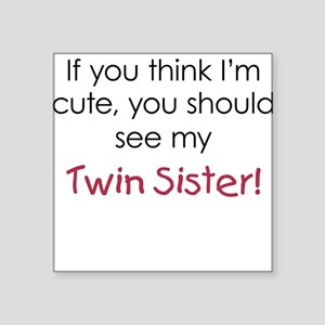 Cute Twin Sister - Square Sticker
