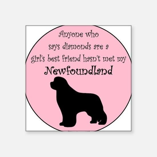 Girls Best Friend Square Sticker
