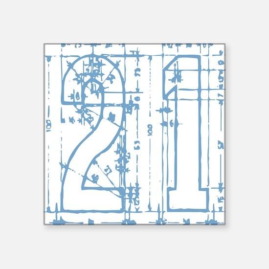 21 Blueprint Square Sticker