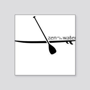 Zen on the Water Square Sticker