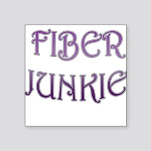 Fiber Junkie Square Sticker