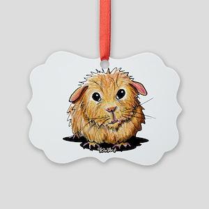 Golden Guinea Pig Picture Ornament