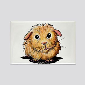 Golden Guinea Pig Rectangle Magnet
