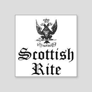 Scottish Rite 33 Degree Square Sticker