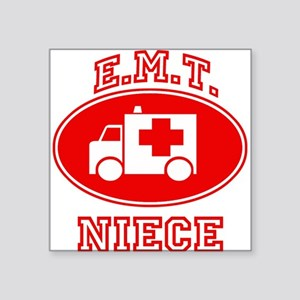 EMT NIECE (Ambulance) Square Sticker